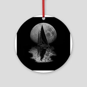 Midnight Sailing Ornament (Round)