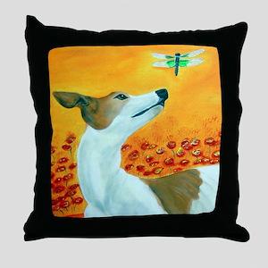 greyflysquare Throw Pillow
