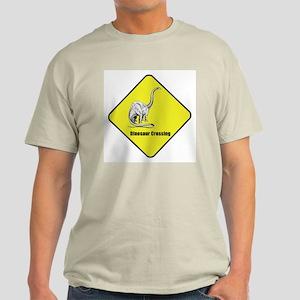 Diplodocus Dinosaur Crossing Ash Grey T-Shirt