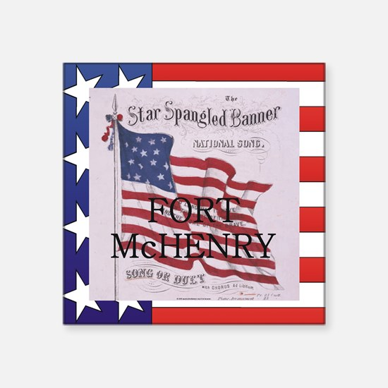 """ABH Fort McHenry Square Sticker 3"""" x 3"""""""