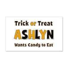 Ashlyn Trick or Treat 20x12 Wall Peel