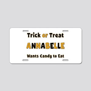 Annabelle Trick or Treat Aluminum License Plate