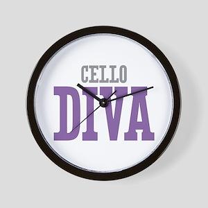 Cello DIVA Wall Clock