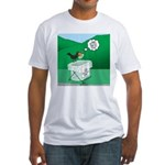 Recycling Bird Fitted T-Shirt