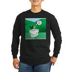 Recycling Bird Long Sleeve Dark T-Shirt