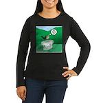 Recycling Bird Women's Long Sleeve Dark T-Shirt