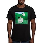 Recycling Bird Men's Fitted T-Shirt (dark)