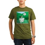 Recycling Bird Organic Men's T-Shirt (dark)