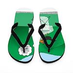Recycling Bird Flip Flops