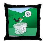Recycling Bird Throw Pillow