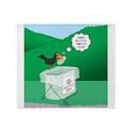 Recycling Bird Throw Blanket