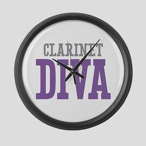 Clarinet DIVA Large Wall Clock