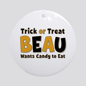 Beau Trick or Treat Round Ornament