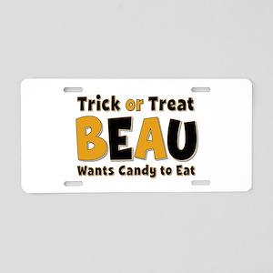Beau Trick or Treat Aluminum License Plate