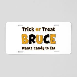 Bruce Trick or Treat Aluminum License Plate