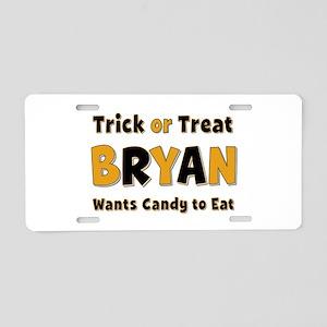 Bryan Trick or Treat Aluminum License Plate