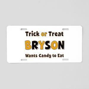 Bryson Trick or Treat Aluminum License Plate