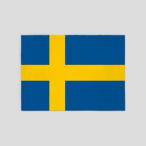 Flag of Sweden 5'x7'Area Rug