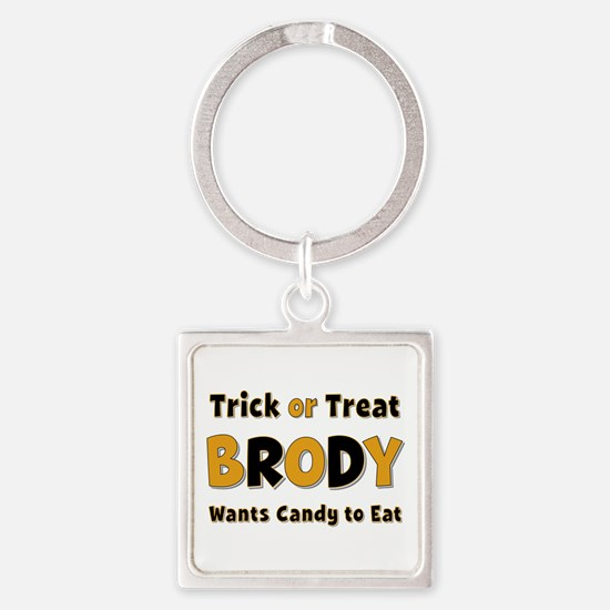 Brody Trick or Treat Square Keychain