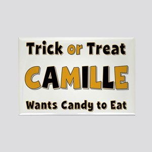Camille Trick or Treat Rectangle Magnet