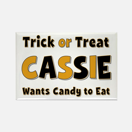 Cassie Trick or Treat Rectangle Magnet