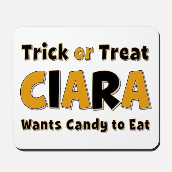 Ciara Trick or Treat Mousepad
