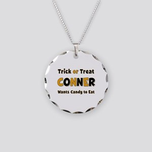 Conner Trick or Treat Necklace Circle Charm