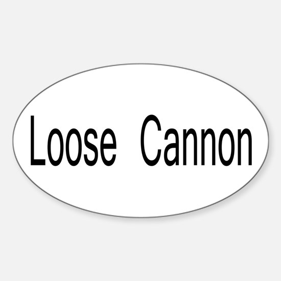 Loose Cannon Oval Decal