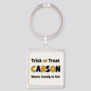 Carson Trick or Treat Square Keychain