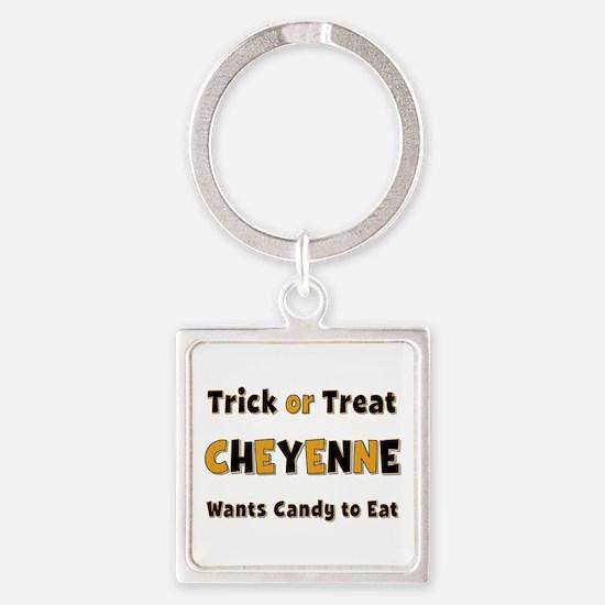 Cheyenne Trick or Treat Square Keychain