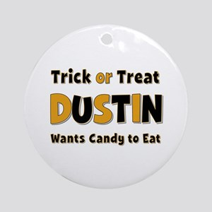 Dustin Trick or Treat Round Ornament