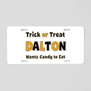 Dalton Trick or Treat Aluminum License Plate