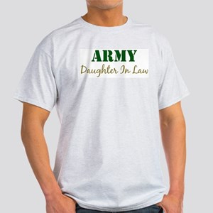 Army Daughter In Law Ash Grey T-Shirt