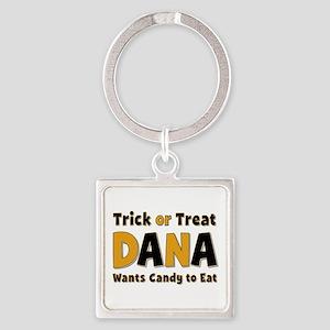 Dana Trick or Treat Square Keychain