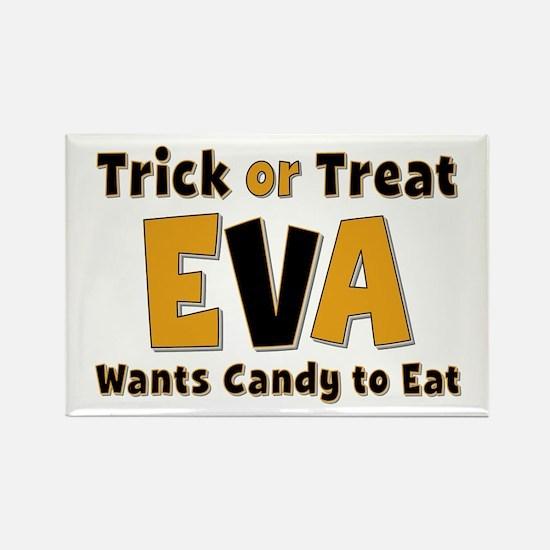 Eva Trick or Treat Rectangle Magnet
