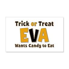 Eva Trick or Treat 20x12 Wall Peel