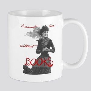 Cannot Live w/o Books Mug