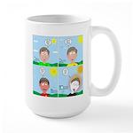 Hot Weather Hydration 15 oz Ceramic Large Mug