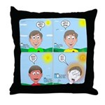 Hot Weather Hydration Throw Pillow