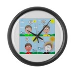 Hot Weather Hydration Large Wall Clock