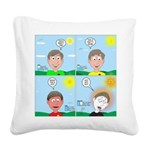 Hot Weather Hydration Square Canvas Pillow