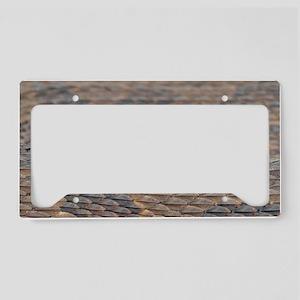 Water Snake Skin License Plate Holder