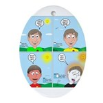 Hot Weather Hydration Oval Ornament