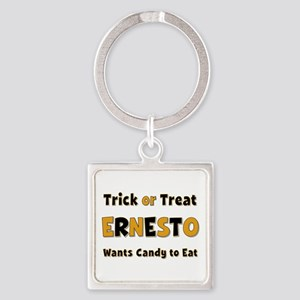 Ernesto Trick or Treat Square Keychain