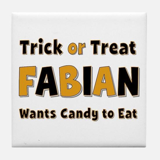 Fabian Trick or Treat Tile Coaster