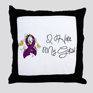 I HATE MY GUTS Throw Pillow