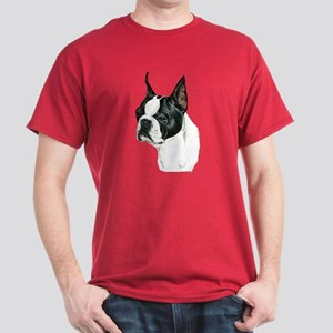 Boston Terrier Dog Dark Colored T-Shirt