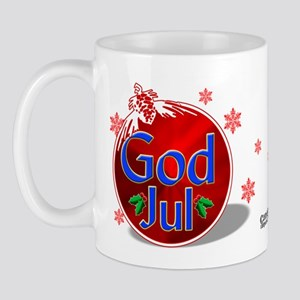 """God Jul"" Red Ornament Mug"
