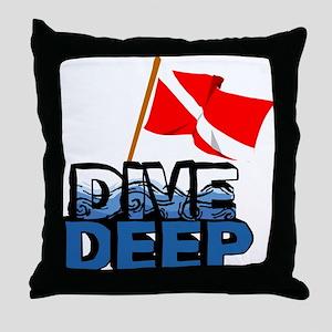 Dive Deep SCUBA Throw Pillow