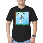 Challenge Course Snake Men's Fitted T-Shirt (dark)